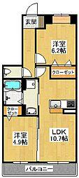 大阪府堺市東区石原町3丁の賃貸マンションの間取り