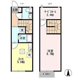[タウンハウス] 広島県東広島市三永3丁目 の賃貸【/】の間取り