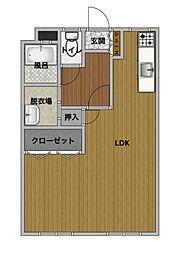 松橋平野ハイツ[402号室]の間取り