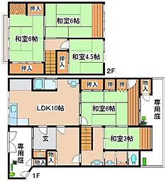 [一戸建] 兵庫県神戸市灘区篠原中町5丁目 の賃貸【/】の間取り