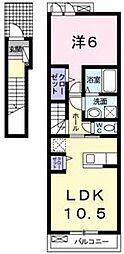 香川県高松市下田井町の賃貸アパートの間取り