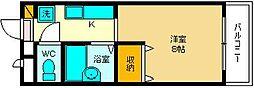大阪府大阪市西淀川区姫島4丁目の賃貸マンションの間取り