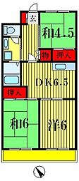 千葉県松戸市二十世紀が丘中松町の賃貸マンションの間取り