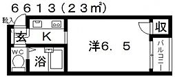 ラ・コート喜志[A303号室号室]の間取り