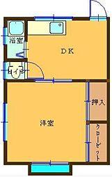 サカイマンション[3階]の間取り