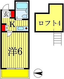 ジュネパレス松戸第4[104号室]の間取り