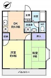 テラスハザマ[2階]の間取り