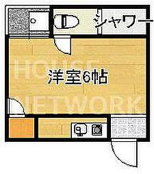 ハイツ松ヶ崎[1-F号室号室]の間取り
