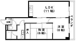 東洋マンション[302号室]の間取り