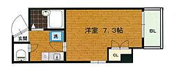ブランネージュ四条大宮[9階]の間取り