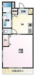 中田マンション[2階]の間取り