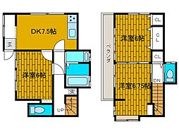 [一戸建] 神奈川県相模原市南区東林間7丁目 の賃貸【/】の間取り
