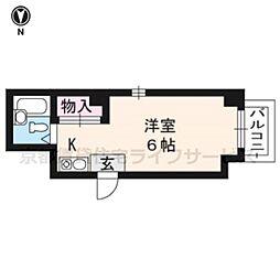 コーポ高倉[2-B号室]の間取り