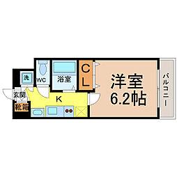 プレサンス名古屋城前ラバンカ[4階]の間取り