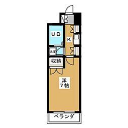 デイスターアベニュー[4階]の間取り