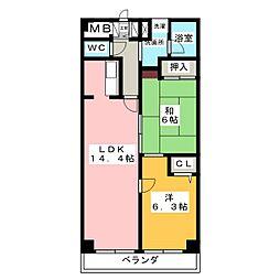 ラフォーレ堅田[4階]の間取り