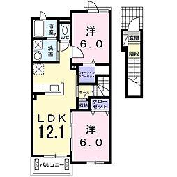 マーベラスB[2階]の間取り