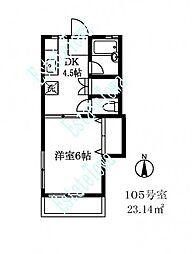 174702 ハイム三宿[1階]の間取り