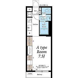 名古屋市営桜通線 瑞穂区役所駅 徒歩7分の賃貸マンション 3階1Kの間取り
