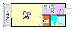パステルハイム津田沼[1階]の間取り