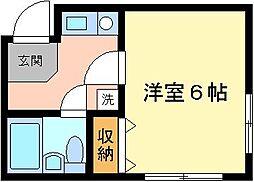 パールキャッスル[2階]の間取り
