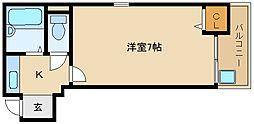 大阪府藤井寺市藤井寺1丁目の賃貸マンションの間取り