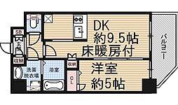 大阪府大阪市福島区海老江5丁目の賃貸マンションの間取り