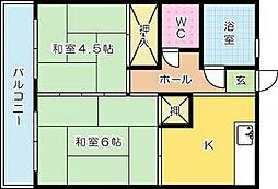 弘美荘ビル[403号室]の間取り