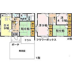 [テラスハウス] 奈良県奈良市神功3丁目 の賃貸【奈良県 / 奈良市】の間取り