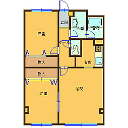 レジデンスKouei[3階]の間取り