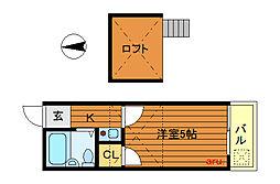 レオパレス田無第1[2階]の間取り
