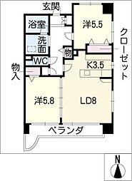 PLANET D[3階]の間取り