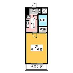 コスモ前橋昭和町[6階]の間取り