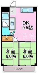 メゾン笹山[303号室]の間取り