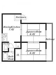 グランドール城島[2階]の間取り