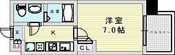 阪急宝塚本線 三国駅 徒歩5分の賃貸マンション 9階1Kの間取り