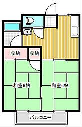 山口県下関市綾羅木本町5丁目の賃貸アパートの間取り