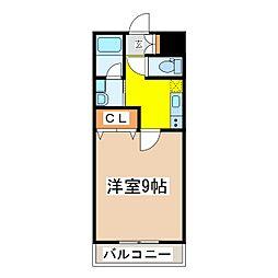 広島県東広島市西条中央 3丁目の賃貸マンションの間取り