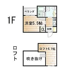 ライドツー[1階]の間取り