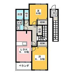 ハピネス長崎B棟[2階]の間取り