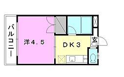 キャンパス松山[103 号室号室]の間取り