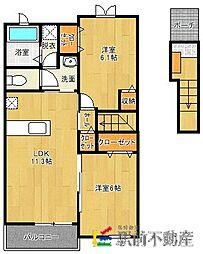 Rest HouseIII B[202号室]の間取り