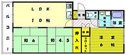 レジデンス和白[3階]の間取り