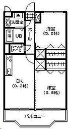 フェニックスマンション B棟[205号室]の間取り