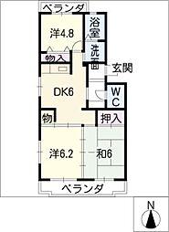 サンシャイン12[1階]の間取り
