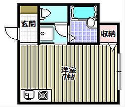 ひまわりハイツ[1階]の間取り
