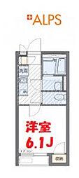 JR京浜東北・根岸線 磯子駅 徒歩11分の賃貸アパート 2階1Kの間取り