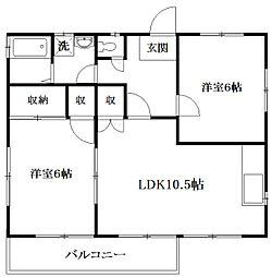 小倉ハイツ[2階]の間取り