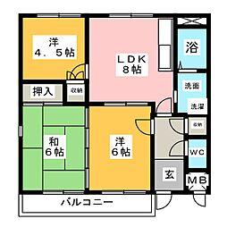ギャラリーコート21[2階]の間取り