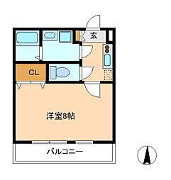 クレフラスト松戸吉井町B棟[2階]の間取り